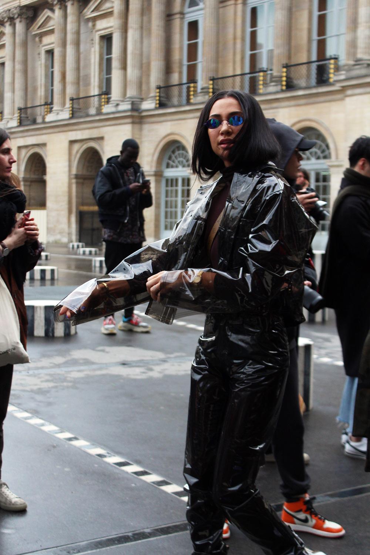 Kristen Noel Crawley at Louis Vuitton FW18 men's show in Paris