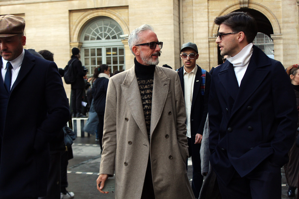 Street Style at Louis Vuitton FW18 in Paris