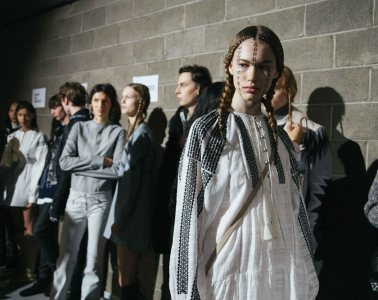 Backstage at Diesel Black Gold FW18 by Giuseppe Triscari