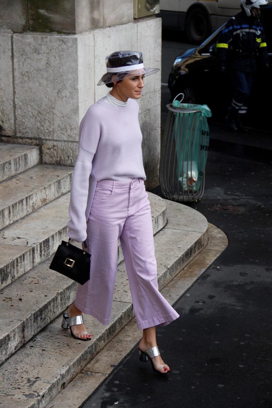 Gala Gonzalez Street Style PFW Fall 2018
