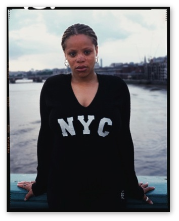 """Karisse, London, [sur]passing series, 2003 C–print, 20 x 16"""" (paper size 24 x 20"""") Limited edition of 10. Price: $300 (market value of  Lola's 4 x 5' prints: $2,000)"""