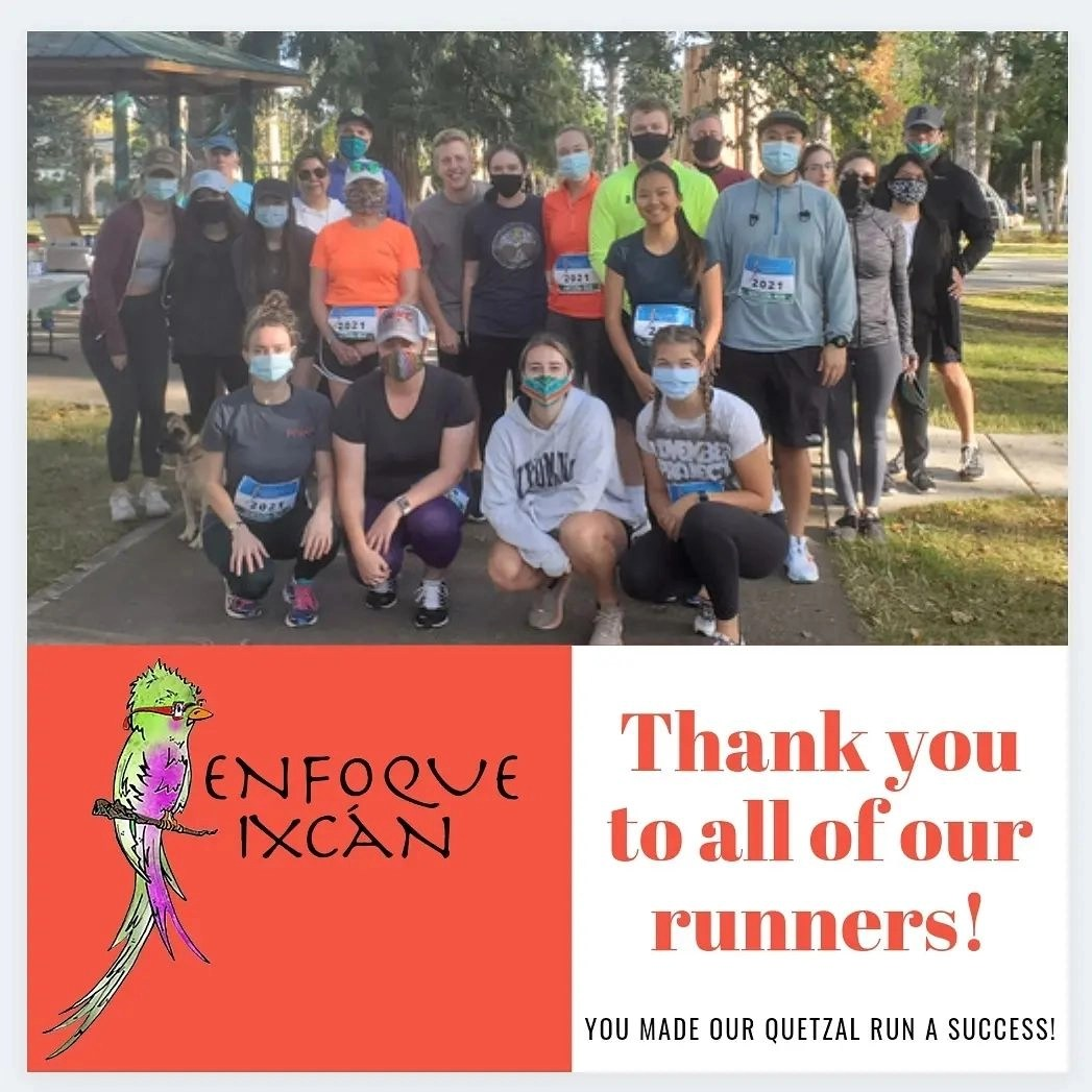 Thank you to all of our runners! You made our Quetzal Run a success!