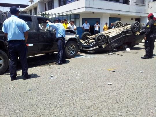Auxiliados 7 heridos en choque (2)