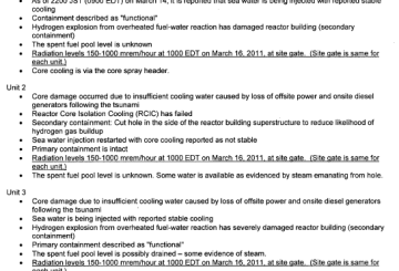 NRC Talking Points - Current as of March 17 2011 0600 EDT