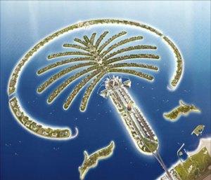 File photo of the Palm Jumeirah man-made island in Dubai, a major tourist attraction. (Asharq Al-Awsat)