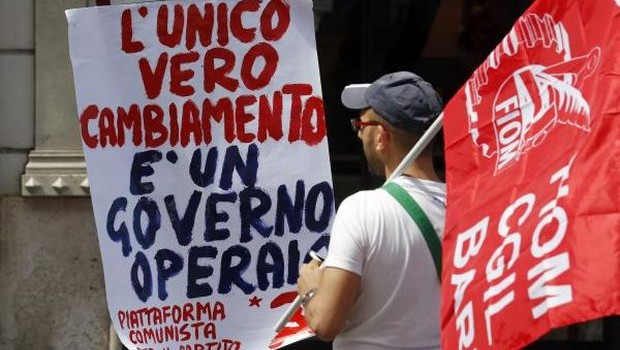 Rome protest turns up heat on new PM Letta