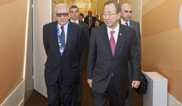 France pushing for wider participation at Geneva II