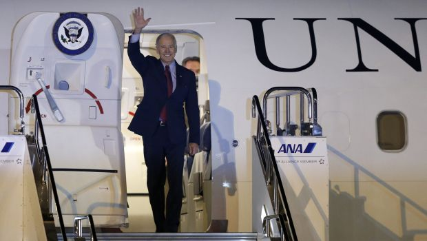 Biden on delicate mission to defuse tensions in East Asia