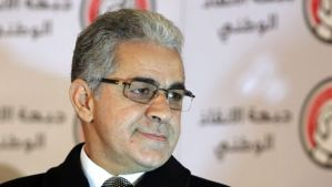 A file photograph dated 23 December 2012, shows former Presidential candidate and opposition member of National Salvation Front, Hamdeen Sabahy, at a press conference in Cairo, Egypt. (EPA/Khaled Elfiqi)