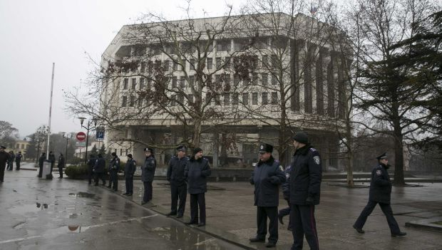 Government buildings seized in Ukraine's Crimea