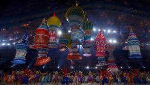 Dancers perform during the opening ceremony of the 2014 Sochi Winter Olympic Games February 7, 2014. REUTERS/Brian Snyder (RUSSIA - Tags: SPORT OLYMPICS)
