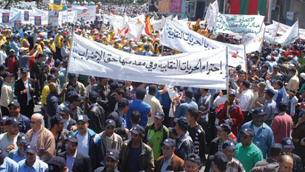 Moroccan unions to hold march for workers' rights