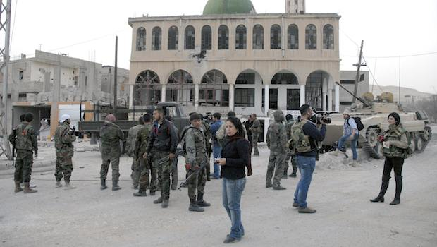 Syrian government closes in on opposition stronghold in Yabroud
