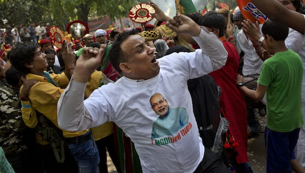 Modi wins India's election with a landslide, partial results show