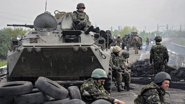Three killed in Ukraine offensive near Slovyansk