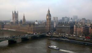 A general view of the Houses of Parliament and the river Thames in London, England, taken on January 21, 2014. (Oli Scarff/Getty Images)