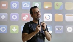 Xiaomi's International vice president, Hugo Barra, a former Google Inc executive who joined last year, speaks with the media during the launch of Mi phones in New Delhi on July 15, 2014.(REUTERS/Anindito Mukherjee)