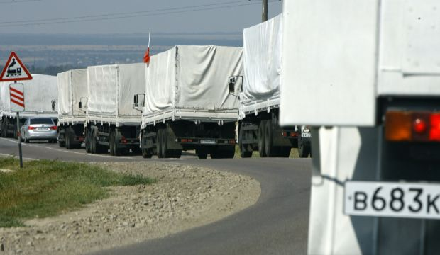 Game of chicken with Russian aid convoy