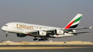File photo of an Emirates aircraft.