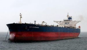 The oil tanker SCF Byrranga, which was renamed the United Kalavryta in March 2014 and is currently off the coast of Texas with a cargo of Kurdish crude oil, is seen off the Isle of Arran, Scotland in this handout photo taken February 21, 2014. (REUTERS/Tom Duncan/Handout via Reuters)