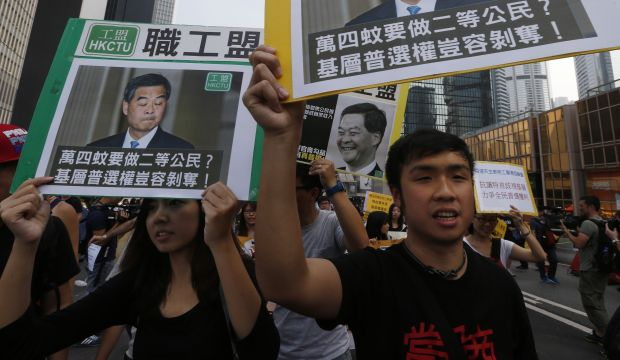 Hong Kong protesters march after fruitless talks with government