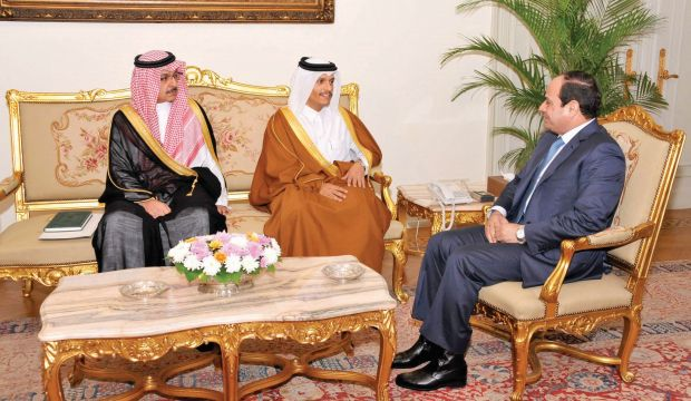 Sisi and Emir of Qatar to meet in Riyadh: sources