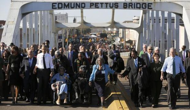 On Selma anniversary, Obama says racial progress made but more needed