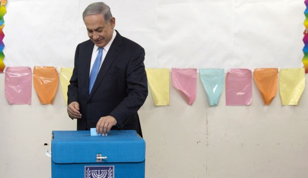 As Israelis vote, Netanyahu rules out Palestinian state