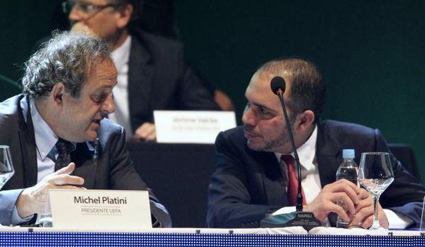 Platini pledges support for Jordan's Prince Ali in FIFA presidency bid