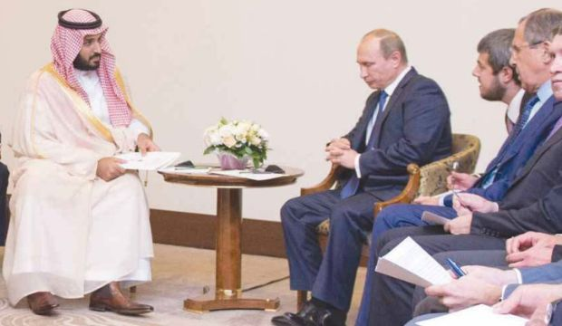 """Saudi Deputy Crown Prince tells Putin Kingdom is """"concerned"""" about Russian action in Syria"""