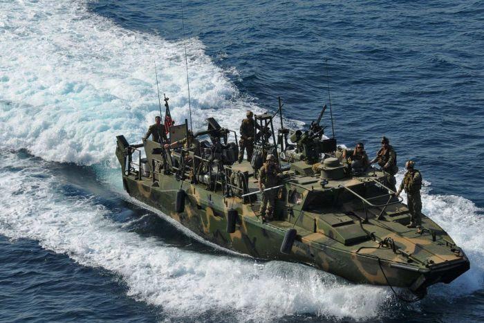 Iran's Guards Detain 10 U.S. Sailors