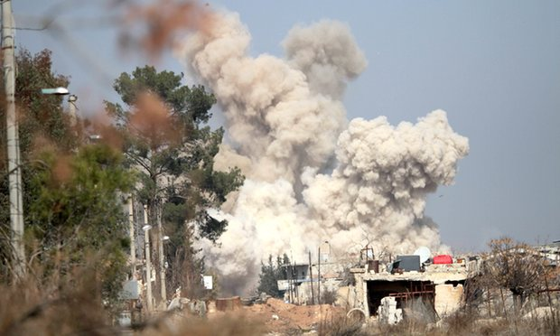 Airstrikes Intensified Hours before Deal to Halt Fighting in Syria