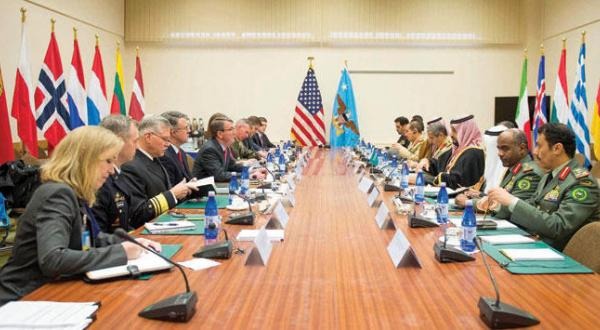 Deputy Crown Prince Meets with British, Italian, US, German Ministers of Defense in Brussels
