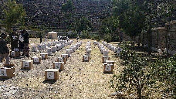 13 Trucks Carrying Humanitarian Aids Arrive to Taiz from Aden