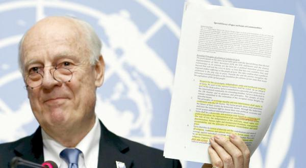 De Mistura's 12 Item Document for a Solution and Political Transition with Full Authority