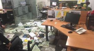 Asharq Al-Awsat Beirut office, after being attacked- Friday April, 1,2016.