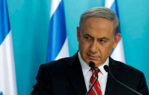Israel's Prime Minister Netanyahu holds a news conference at his office in Jerusalem
