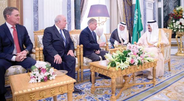 King Salman Receives Delegation from US Congress
