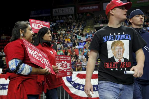 Trump and Sanders Fans Share Hunger for Campaign Merchandise