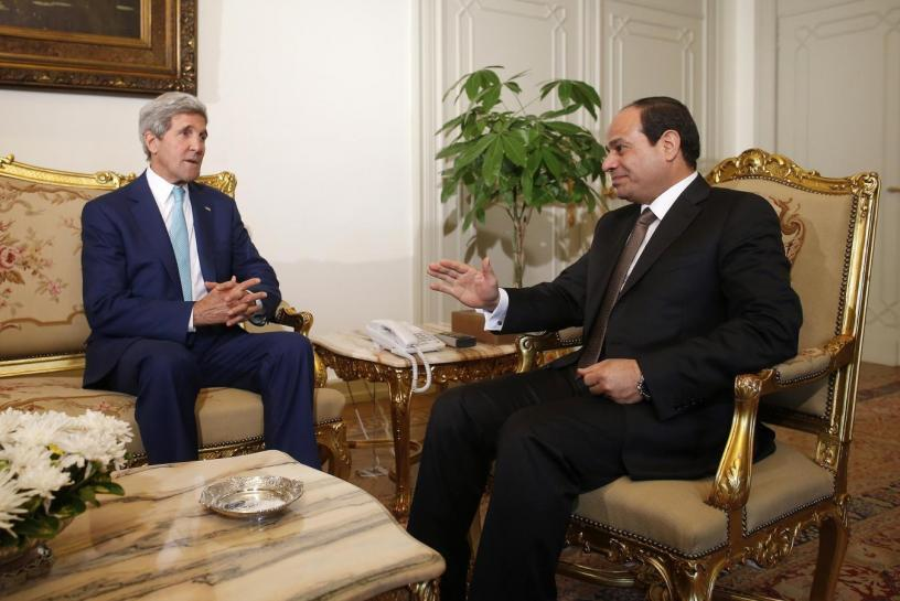 Kerry in Cairo for Talks on Mideast Peace, Libya