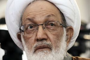 Sheikh Isa Qassim is accused of being in contact with enemies of Bahrain. AFP: Mohammed al-Shaikh