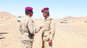 Col.Harthy with a Yemeni soldier in Bayhad District, Asharq AL-Awsat