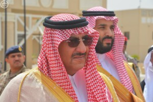 Crown Prince Mohammed bin Nayef and Deputy Crown Prince Mohammed bin Salman.