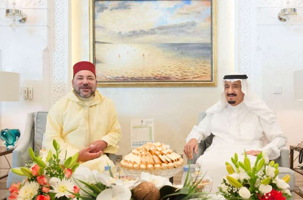 King Salman Receives Moroccan Monarch in Tangier, Morocco