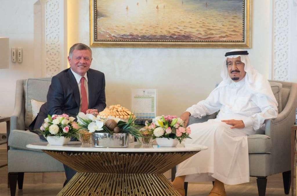 King Salman Receives King Abdullah of Jordan in Tangier