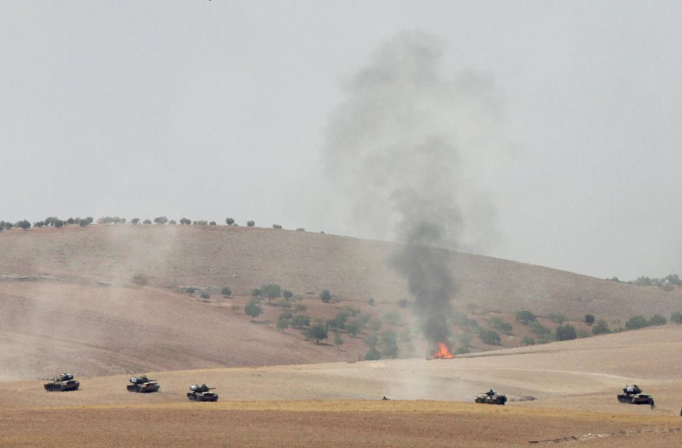 Turkey Says has 'Every Right to Intervene' as Syrian Kurds in 'Process of Retreating'