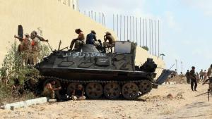 Forces loyal to Libya's Government of National Accord hold a position in the area known as District Three in the west of the coastal city of Sirte on September 3, 2016