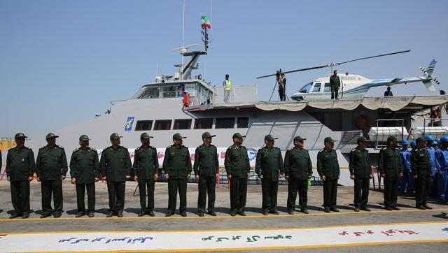Iran Launches New Navy Ship as Tensions Rise with U.S. in Gulf