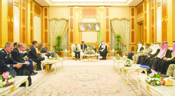 Deputy Crown Prince Receives Italian Minister of Defense