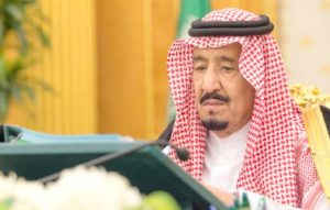 Custodian of the Two Holy Mosques King Salman chairs a Cabinet session at Al-Yamamah Palace in Riyadh. SPA
